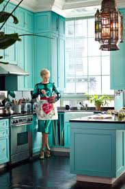 turquoise kitchen decor ideas 17 awesome bold décor ideas for small kitchens digsdigs