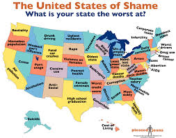 which state has the lowest cost of living united states of shame most screwed up thing in each of 50 states