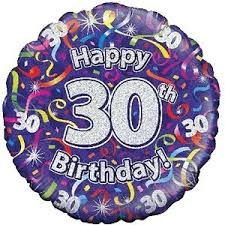 free balloon delivery happy 30th birthday purple streamers balloon delivered inflated in