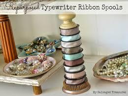 ribbon spools my salvaged treasures from typewriter ribbon to silk ribbon