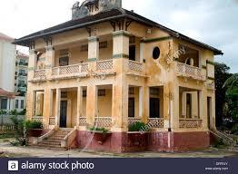 colonial house battambang cambodia stock photo royalty free