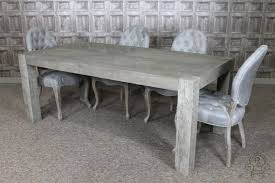 grey oak dining table and bench urban rustic dining room furniture tables within with regard to gray