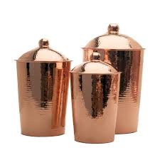 kitchen canisters kumran kitchen canister heavy copper