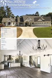 Craftsman House Plans With Photos Plan 24374tw Country Craftsman With Vaulted Interior And French