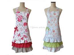 les modeles de tablier de cuisine acheter mode rétro femmes cuisine tablier floral coton 3