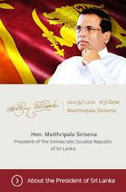 the official website of the president of sri lanka
