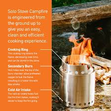 amazon com solo stove campfire 4 person compact wood burning