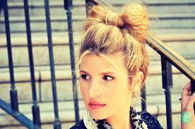 hair bow with hair mr kate diy hair bow bun tutorial