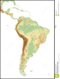 South America Map Outline by Relief Of South America Stock Photos Image 7382373
