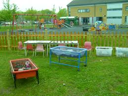 mud kitchen and forest news st nicholas preschool and nursery