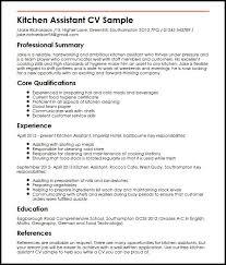bunch ideas of kitchen staff resume sample in job summary