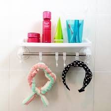 Suction Cup Bathroom Shelf Suction Cup Storage Shelf Wall Bathroom Towel Rack Wall Bathroom