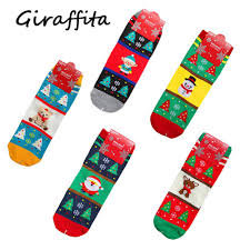 new years socks 2018 christmas happy new years women socks elk snowflake santa