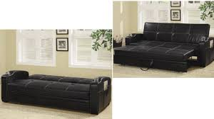 Leather Sofa Bed With Storage Faux Leather Sofa Bed With Storage And Cup Holders 1025theparty