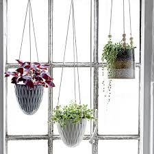 design blumentopf bloomingville blumentopf zum hängen grau 033185 sunflower design