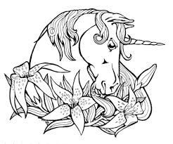 unicorns to color free download