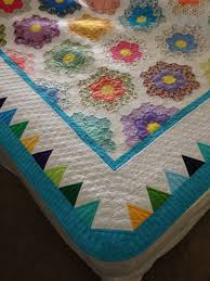 grandmother u0027s flower garden quilted for my cousin