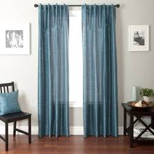 Turquoise Curtains Walmart Softline Bergamo Back Tab And Rod Pocket Curtain Panel Walmart Com