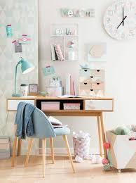 couleur pastel chambre espace bureau vintage décoration chambre ado fille en couleurs