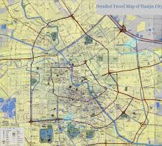 Travel Maps Map Of Tianjin Parks Hotels Districts Streets Shops Road