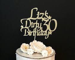 30 cake topper 30 cake topper etsy