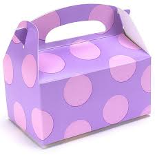 polka dot boxes lavender with pink dots empty favor boxes birthdayexpress