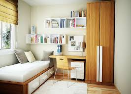 bedroom furniture combined study table white wooden shelf