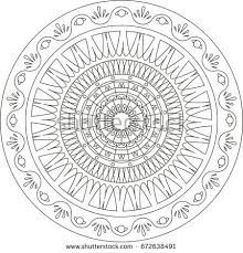 mandala coloring book pages stock vector 638034952 shutterstock