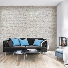 mural stone brick white retro design walldesign56 wall decals mural stone brick white retro design