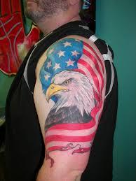 bald eagle american flag tattoo eagle tattoos designs and ideas