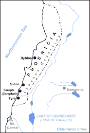 Lebanon Hills Map Map Of Phoenicia In Biblical Times Bible History Online