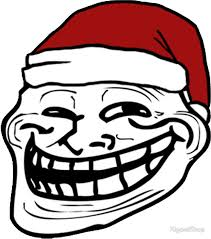 Troll Faces Meme - christmas troll face meme stickers by kiyomishop redbubble