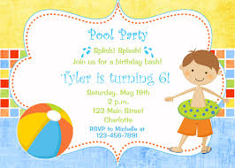 What Is Rsvp On Invitation Card Pool Party Birthday Invitation Pool Party Pool Toys