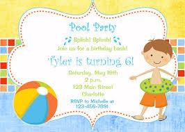 Birthday Invitation Card Kids Pool Party Birthday Invitation Pool Party Pool Toys