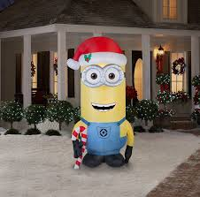 amazon com gemmy airblown inflatable kevin the minion holding a