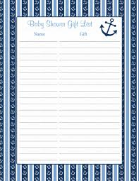 list of baby shower baby shower gift list nautical baby shower theme for baby boy