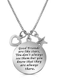 star friendship necklace images Good friends are like stars quot inspirational friendship necklace for jpg