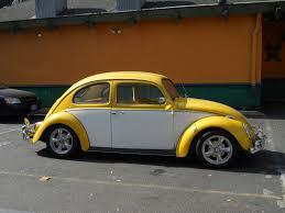 volkswagen bug yellow custom wheels vws in portland