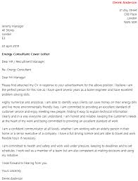 energy advisor cover letter example energy consultant cv example