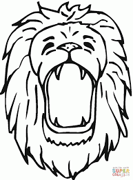 standing lion coloring printable pages picture