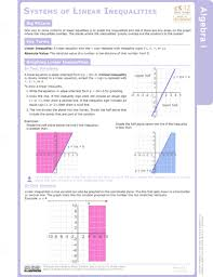 graphs of systems of linear inequalities in two variables ck 12