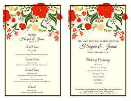 vow renewal program templates free vow renewal invitation suite flowers theme