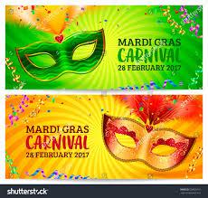 orange mardi gras green orange carnival masks vector mardi stock vector 558020161