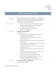 german resume example casino host resume template and job description casino host resume template