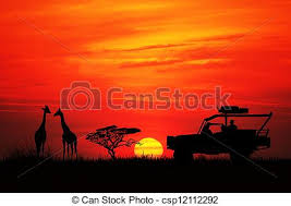 safari jeep front clipart jeep safari in african landscape stock illustration search vector