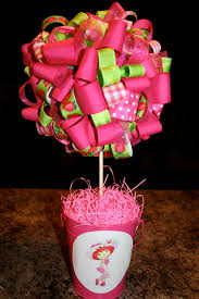 strawberry shortcake ribbon ribbon topiary strawberry shortcake ribbon topiary