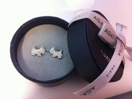 agatha earrings auth bn in box agatha scottie dog earrings pave 100