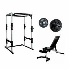 Weight Bench Package Power Rack Gym Package
