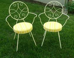 Vintage Bistro Table And Chairs Vintage Ice Cream Patio Furniture Etsy