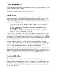 lab 6 kepler u0027s laws 9th 12th grade worksheet lesson planet